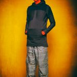 """2 HOT in Berlin - FriendlySociety Sommer Style"" Foto: Galya Feierman at #Bunkerstudio Berlin Styling / H&M by Gregor Marvel Model: Mr.GoM  Head & Longshirt: #StudioObectra Pants: #GregOrMarvel Socks: #FALK – mit Gregor Marvel, Galya Feierman und Studio Obectra."