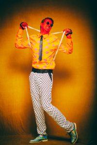 """2 HOT in Berlin - FriendlySociety Sommer Style"" Foto: Galya Feierman at #Bunkerstudio Berlin Styling / H&M by Gregor Marvel Model: Mr.GoM  Glove: #StudioObectra Shirt: #KaiserFriedrichHemden Tie&Pants&Backpack: #GregOrMarvel Glasses: #FriendlySocietyBerlin Shoes: #ALDO – mit Gregor Marvel, Galya Feierman, Kaiser Friedrich Herrenhemden, Studio Obectra und Friendly Society."