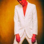 """2 HOT in Berlin - FriendlySociety Sommer Style"" Foto: Galya Feierman at #Bunkerstudio Berlin Styling / H&M by Gregor Marvel Model: Mr.GoM  Suit: #GregOrMarvel Jewelery: #BotoxDisaster Shoes: #ALDO – mit Galya Feierman, Gregor Marvel und Friendly Society."